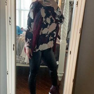 Vince Camuto Sheer Floral Blouse